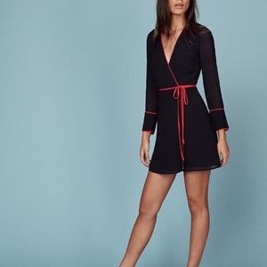 NWT Reformation Bamboo Dress - Black/Red